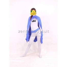 DC Comics Batman Costume | Blue And White Spandex Superhero Zentai Suit