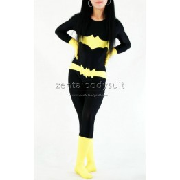 Black And Yellow Batman Suit Spandex Superhero Costume