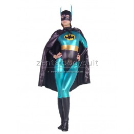 DC Comics Blue Batman Metallic Superhero Zentai Suit Costume