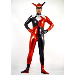 DC Comics Joker Costume Metallic Zentai Bodysuit