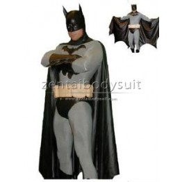 Grey And Black Batman Costume Superhero Zentai Suit