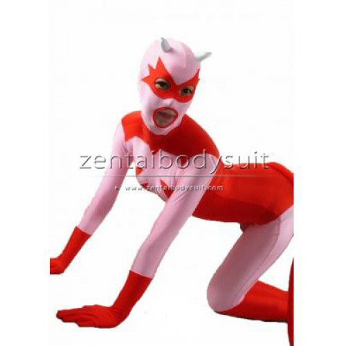 Red And Pink Catwoman Superhero Costume with ear