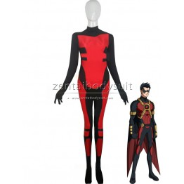 Red Robin Tim Drake Costume Spandex Superhero Zentai Suit