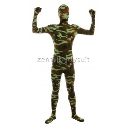 Camouflage Skin Lycra Spandex Full body Zentai Suit