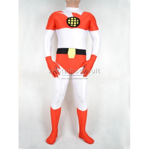 White Captain Planet Spandex Costume