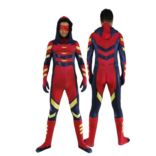 Arsenal Cosplay Costume Printed Zentai Suit KidsAdults