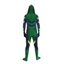 Green Arrow Arsenal variant Cosplay Costume Printed Zentai Suit Kids/Adults