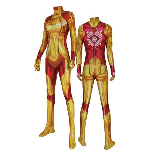 Samus Iron Costume Gray 3D Printed Girl Superhero Costumes