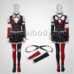 Arkham Knight Harley Quinn Female Supervillain Batman Cosplay Costume