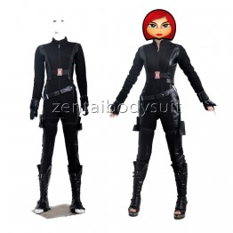 Captain America 2 Black Widow Superhero Cosplay Costume