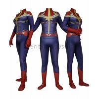 Captain Marvel Cosplay Superhero Costume
