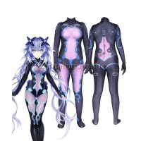 Game Neptunia Superhero Costume Jumpsuits Zentai