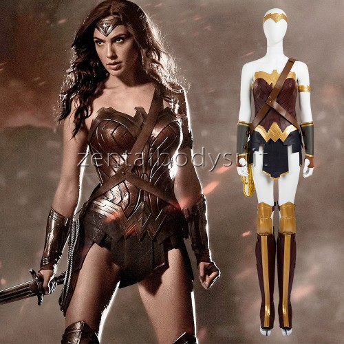 Luxury Upgraded Leather Wonder Woman Cosplay Costume