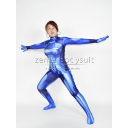 3D Printed Samus Zero Costume Blue Color Girl Cosplay Suit