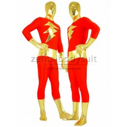 Captain Marvel Superhero Costume Red And Gold