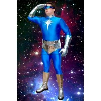 Metallic And Spandex Kyberstarr Superhero Cosplay Zentai Costume