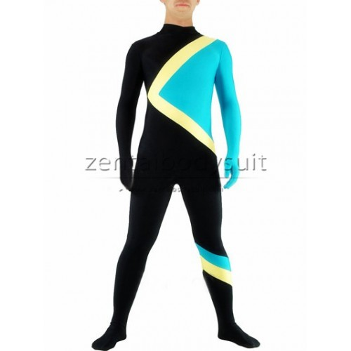 Black And Blue Superhero Spandex Zentai Suit