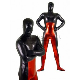 Black And Red Metal Super Hero Costumes Zentai Suit