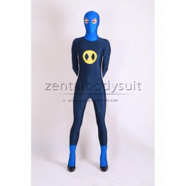 Custom Blue Spandex Superhero Zentai Suit