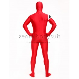 Custom Red Spandex Super Hero Zentai Cosplay Costume