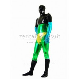 Green And Black And Gold Shiny Metallic Costume