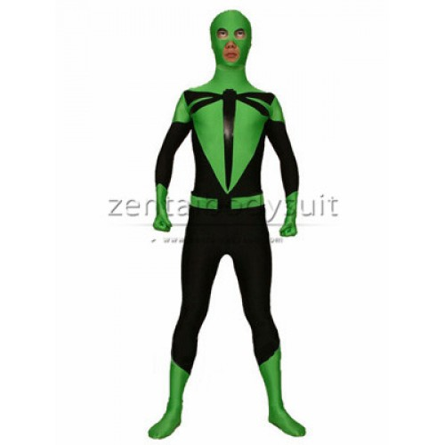Green And Black Dragonfly Superhero Costume