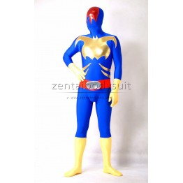 Metallic And Spandex Fullbody Superhero Cosplay Costume