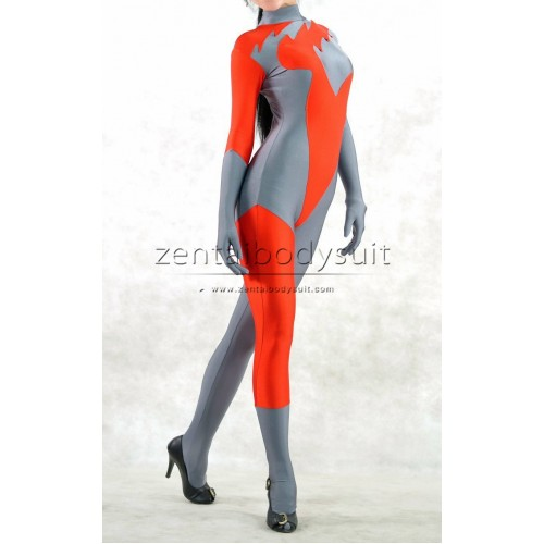 Orange And Gray Superhero Costume