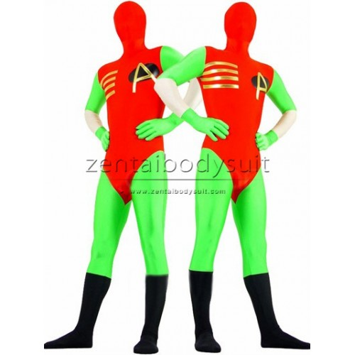 Red And Green Fullbody Superhero Costume