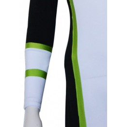 Tron Costume Light Green Black And White Spandex Lycra Catsuit