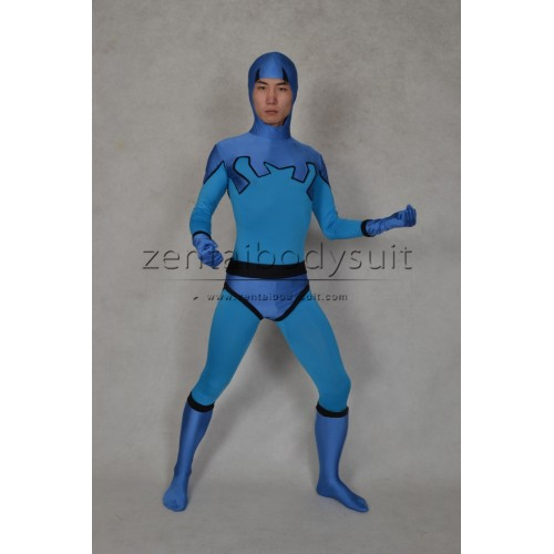 Blue Beetle Costume Ted Kord Version Spandex Superhero Suit