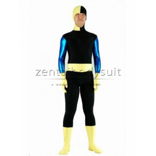 DC Comics Ravager Costume Metallic Spandex Superhero Suit