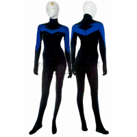 Nightwing Costume Black And Blue Spandex Lycra Catsuit