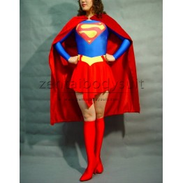 Supergirl Spandex Superhero Costume