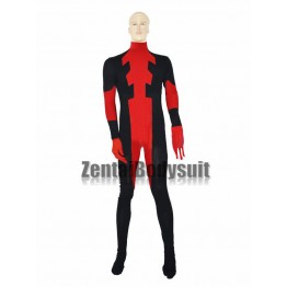 Custom Red And Black Mens Deadpool Superhero Costume