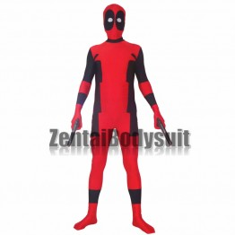 Red And Black Deadpool Spandex Deadpool Costume