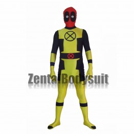 Custom Yellow Deadpool Superhero Costume