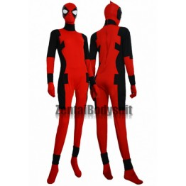 Deadpool Costume Red And Black Premium Zentai Suit