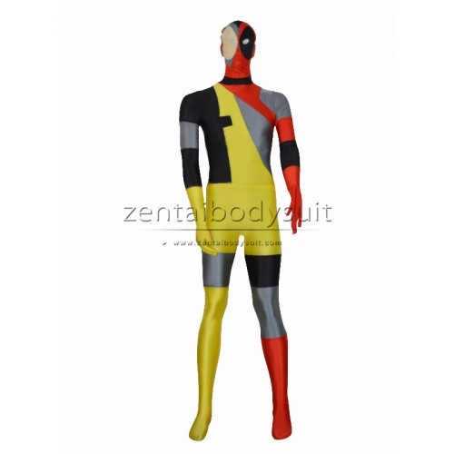 Hot New Style Lycra Spandex Deadpool Costume
