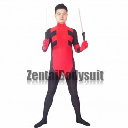 Red And Black Custom Mens Deadpool Superhero Costume