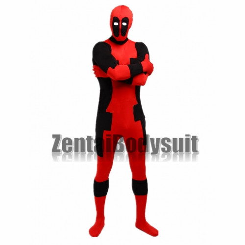 Red And Black Deadpool Hero Costume