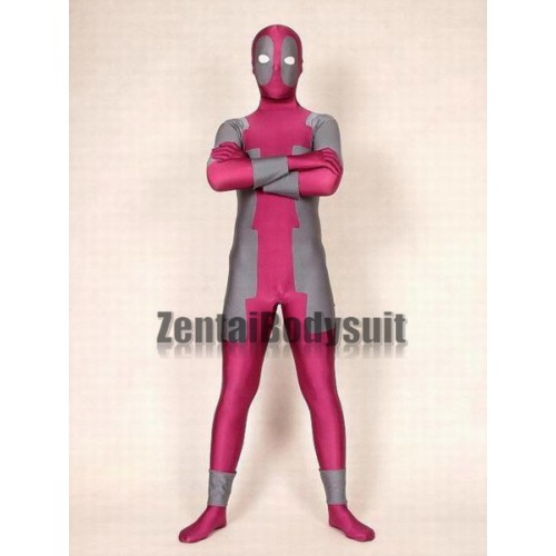 Rose And Gray Spandex Deadpool Costume