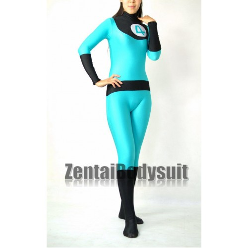 Blue And Black Fantastic Four Spandex Superhero Costume