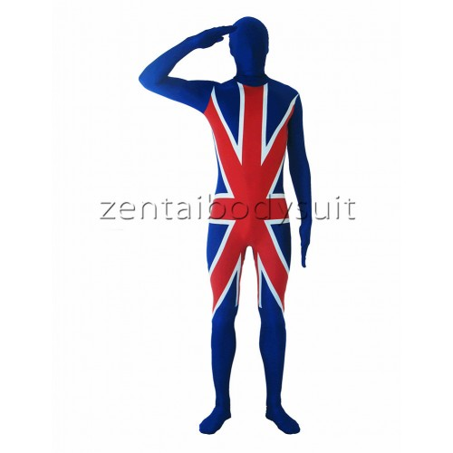 Custom British Flag Spandex Zentai Suit