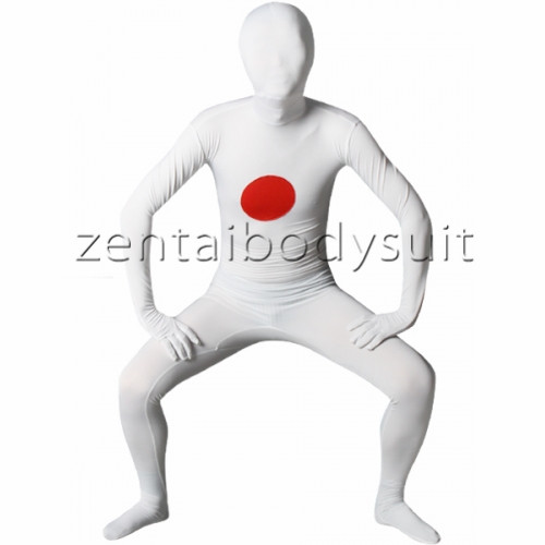 Japan Flag Lycra Spandex Zentai Suit