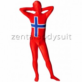 Norwegian Flag Lycra Full Body Zentai Suit