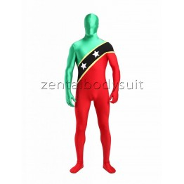 Unisex Lycra Around The World Full Body Fashion Flag Zentai Suits