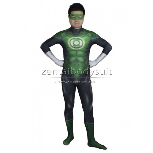 3D Movie Green Lantern Costume Cosplay Zentai Suit