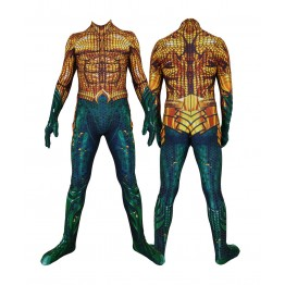 Golden Aquaman Film Version Aquaman Cosplay Costume Jumpsuits