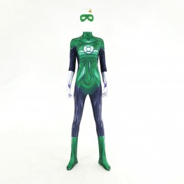 3D Printed Female Green Lantern Spandex Superhero Costume